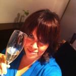 Eva con champagne